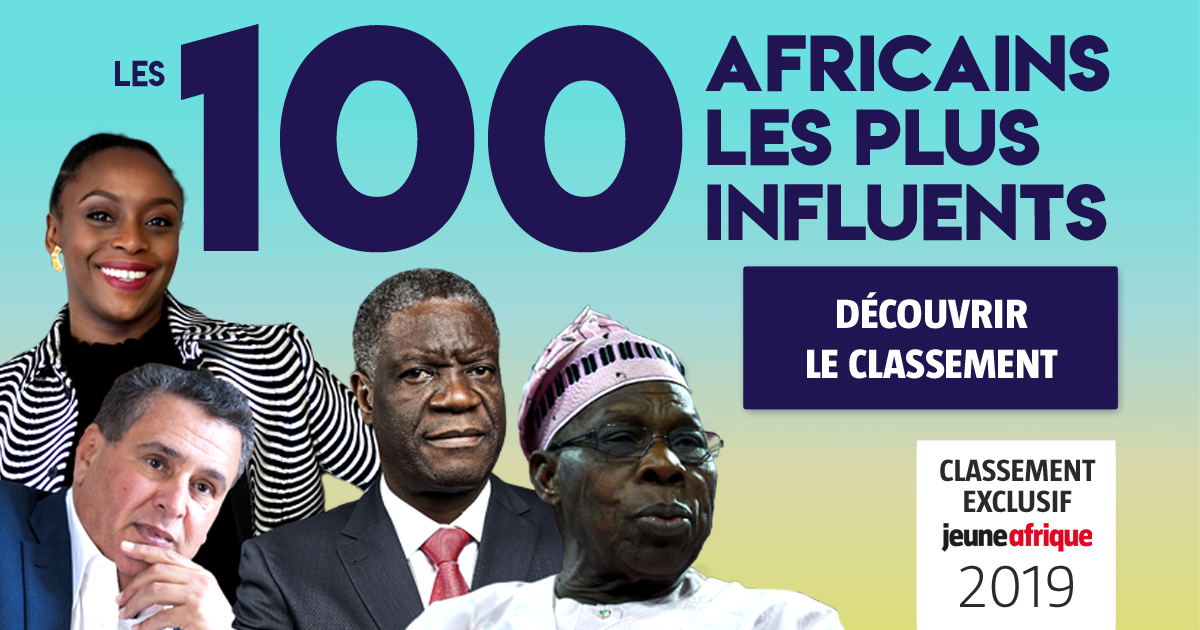Découvrir le classement 2019 des 100 africains les plus influents