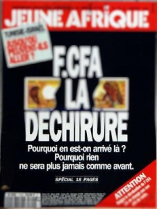 Une du n°1724, de «Jeune Afrique», daté du 20 janvier 1994