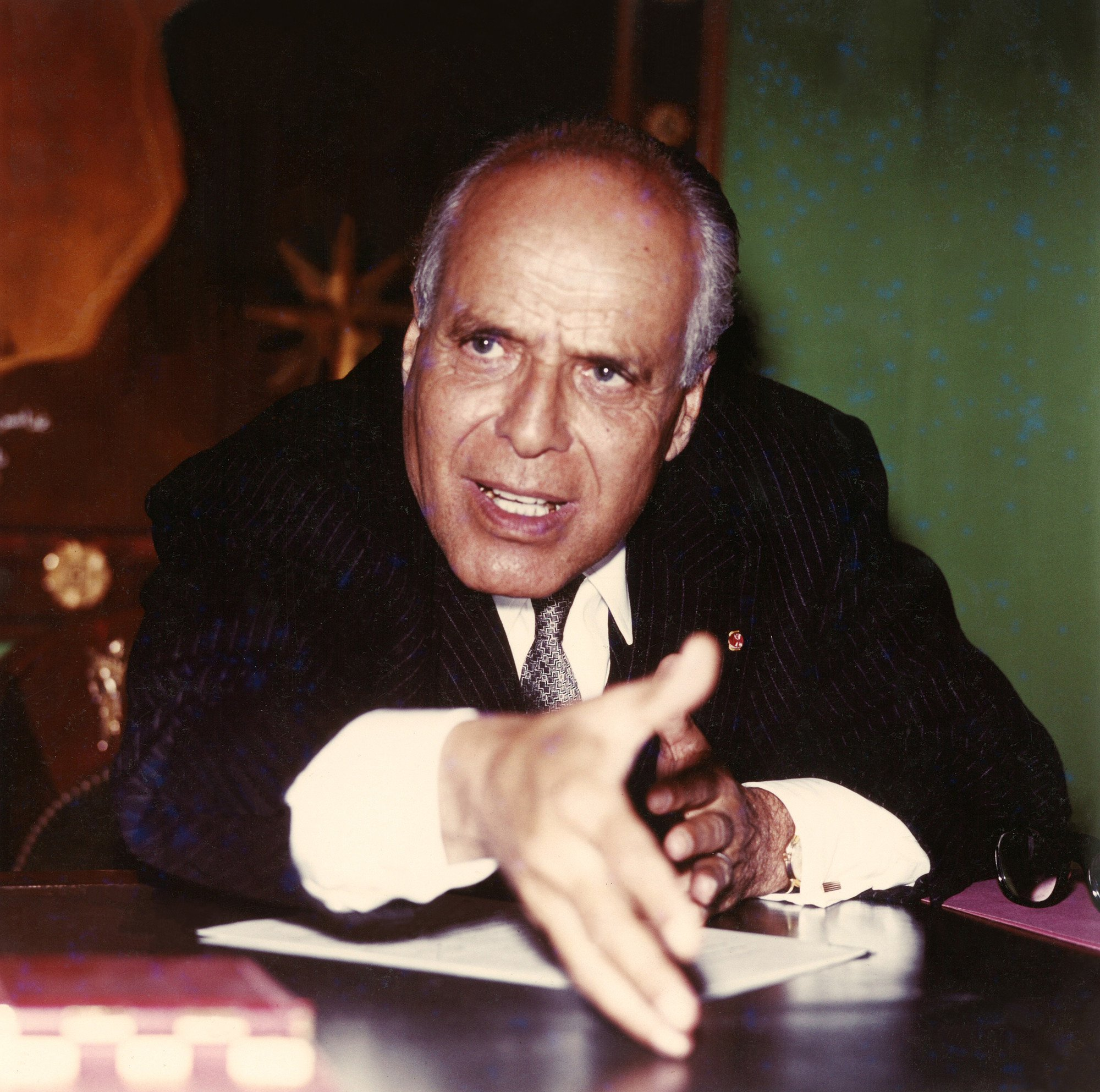 Habib Bourguiba, ex-président de la République tunisienne, en 1958.