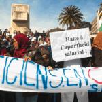 Manifestation de médecins, le 17 février 2010 à Alger.