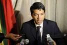 Le président du régime en place à Madagascar Andry Rajoelina, le 29 avril 2010 à Pretoria.