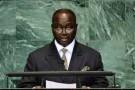 Le président centrafricain François Bozizé, le 22 septembre 2010 à l'ONU.