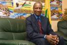 Alpha Condé dans son QG de campagne, à Conakry, le 17 novembre.