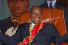 Le président guinéen Alpha Condé lors de son investiture le 21 décembre 2010 à Conakry.