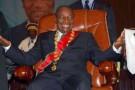 Le nouveau président guinéen Alpha Condé lors de son investiture, le 21 décembre 2010 à Conakry