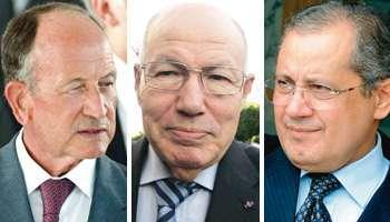 De g. à dr. : Abdallah Kallel, Abdelaziz Ben Dhia et Abdelwahab Abdallah. - 021022011173329000000hommesforts