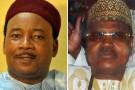 Les deux candidats à la présidentielle nigérienne : Mahamadou Issoufou (à g.) et Seini Oumarou.