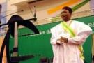 Le président nigérien Mahamadou Issoufou lors de son investiture, le 7 avril 2011 à Niamey.