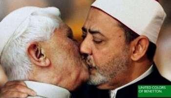 Pakistán Untado rechazo  Pub Benetton : le pape et l'imam, le baiser provoc' – Jeune Afrique