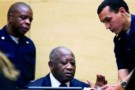Laurent Gbagbo lors de sa première comparution devant la CPI, le 5 décembre 2012.