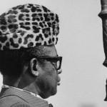 Le maréchal-président du Congo-Zaïre Joseph-Désiré Mobutu, en juin 1983, à Lubumbashi.