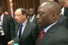 François Hollande et Joseph Kabila après leur tête-à-tête, le 13 octobre à Kinshasa.
