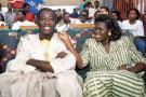 Meeting à Abidjan pour l'élection présidentielle d'octobre 1990.