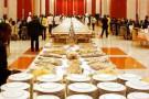 Diner officiel donné en 2007 au palais présidentiel de Libreville.