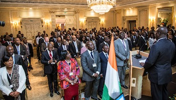 Lors du forum Diaspora for Growth.