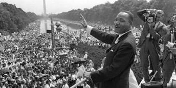 Martin Luther King, lors de son discours, le 28 août 1963.