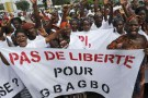 Manifestation d'anti-Bagbo, en juin.