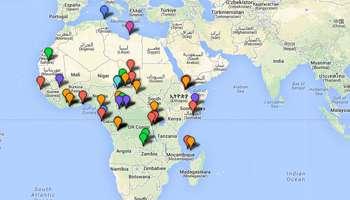 Carte Afrique Onu.1960 2013 53 Ans D Interventions Francaises En Afrique