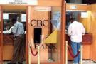 Un guichet de la Commercial Bank of Cameroon.