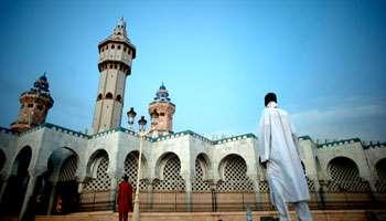 La grande mosquée de Touba, la cité sainte des mourides, au Sénégal.