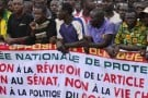 Des manifestants burkinabè lors de la marche du 18 janvier.