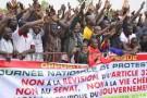 Marche de protestation à Ouagadougou, le 18 janvier.