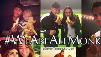 Des photos #WeAreAllMonkeys sur Twitter.