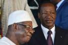 IBK (g) et Blaise Compaoré (d), le 31 août 2013 à Ouagadougou.