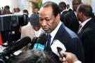 Compaoré lors du XIVè sommet de la Francophonie à Kinshasa, en 2012.