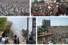 Photos de Ouagadougou publiées sur Twitter.