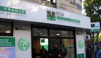 L'une des quatre agences de Bank of Africa en France.