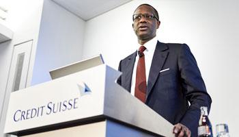 Le Franco-Ivoirien Tidjane Thiam occupera le poste de directeur général de Crédit Suisse, à partir de juin 2015