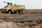 Les troupes loyales au président, près du folfe d'Aden.