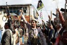 Des partisans du mouvement Houthi à Sanaa, le 1er avril 2015.