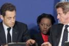 Nicolas Sarkozy, ici en 2008 avec Rama Yade, secréatire d'État aux droits de l'Homme.