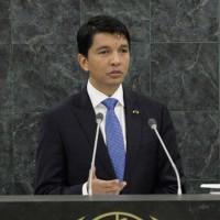 Andry Rajoelina, le 25 septembre 2013, à l'ONU.