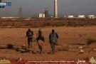 Capture d'écran d'une vidéo, identifiée par l'agence SITE Intelligence Group le 9 juin 2015, qui montrerait des combattants du groupe EI à Syrte, en Libye.