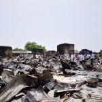 La ville nigériane de Gambaru, réduite en cendres par les islamistes en mai 2014.