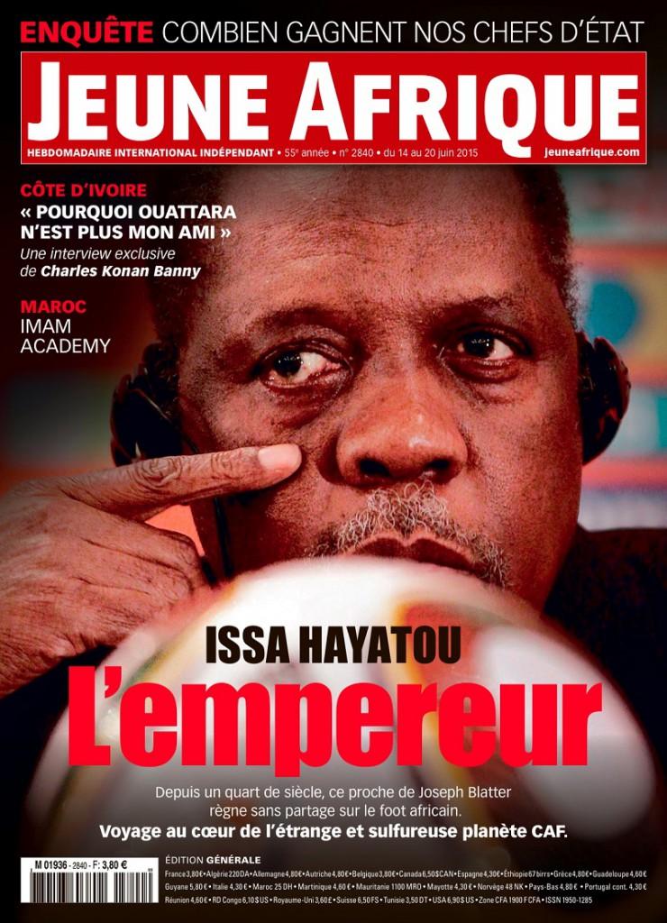 Une générale de l'édition n02840 de Jeune Afrique