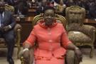Catherine Samba-Panza au Parlement, à Bangui, le 23 janvier 2014