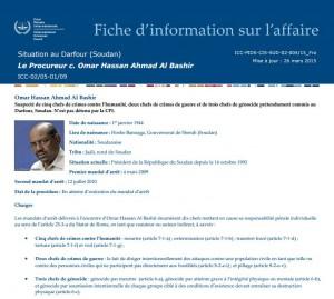 La fiche d'information de la CPI