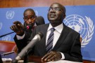 Le 2e vice-président du Burundi, Gervais Rufyikiri, lors d'une conférence de presse le 29 octobre 2012 à Genève.