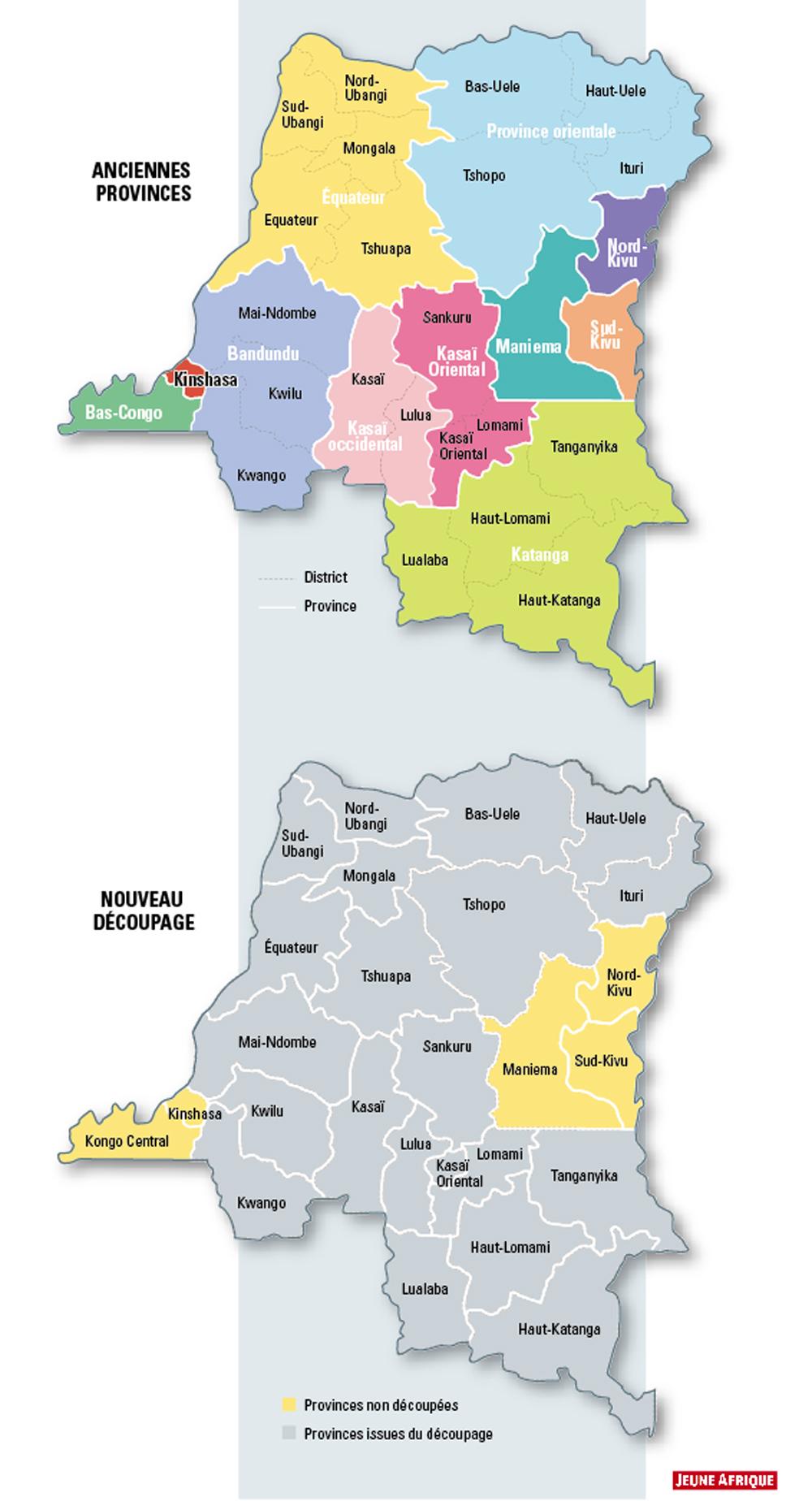 Découpage en RDC