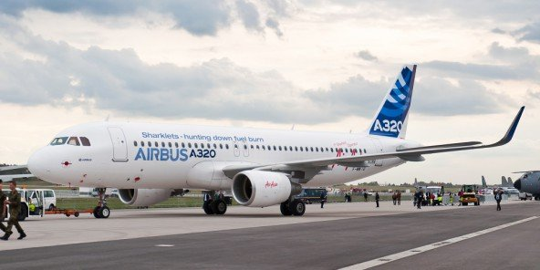 L'Airbus A320  peut transporter 150 passagers.