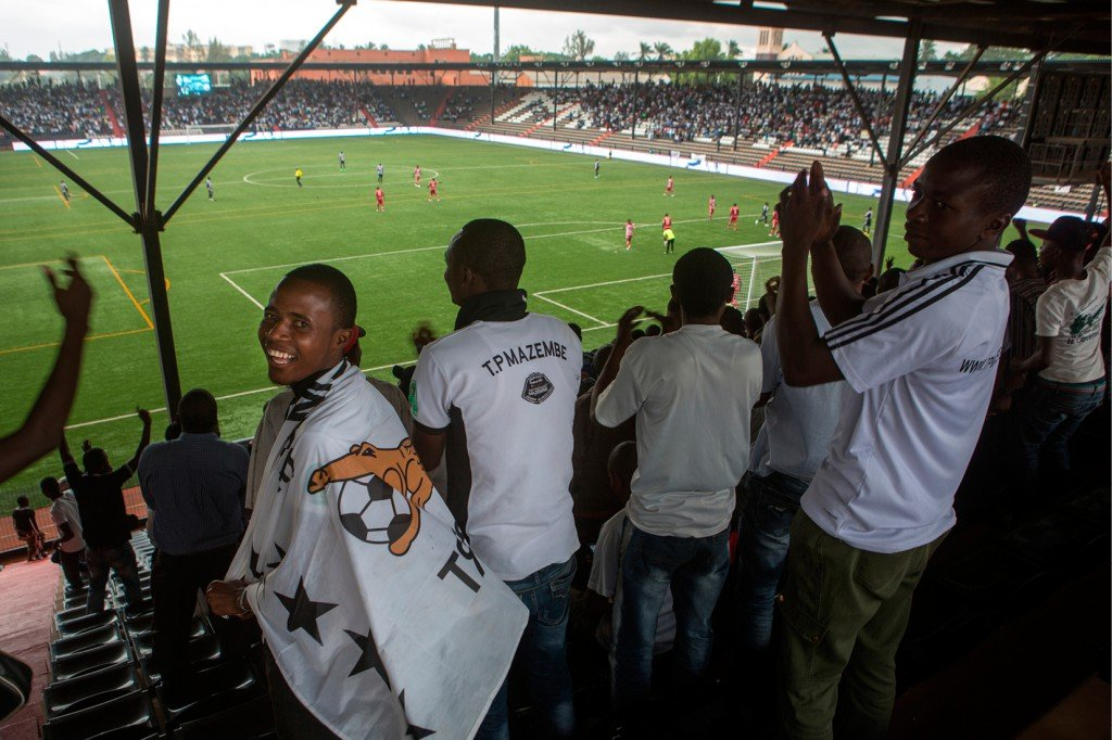 Des fans du TP Mazembe.