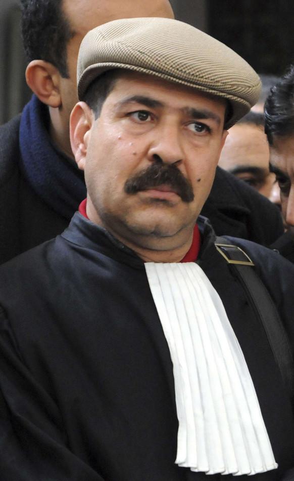 Chokri Belaïd, secrétaire général du Parti des patriotes démocrates, en 2010.