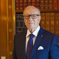 Béji Caid Essebsi, dans son bureau au Palais de Carthage, le 24 mars 2015