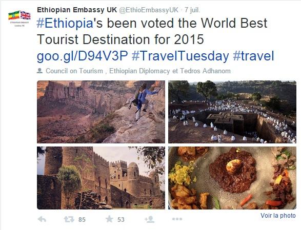 Ethiopian Embassy UK/Twitter