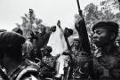 Mobutu Sese Seko, son plus fidèle soutien sur le continent, lui rend visite en août 1983.