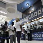 Vue d'une agence d'Ecobank à Abidjan.